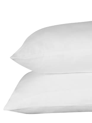 200 TC 100% Cotton Percale Solid, Ivory Color, Pair Of Large Size Pillow Covers - 15170210 - Standard Image - 3