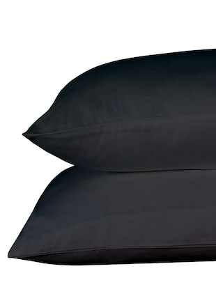 400 TC 100% Cotton Sateen Solid, Slate Grey Color, Pair Of Large Size Pillow Covers - 15170309 - Standard Image - 3