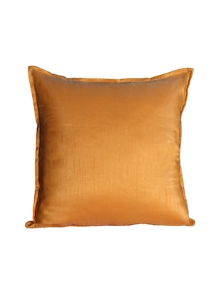 Set Of 2 16x16 Inches Solid Dupion Poly Silk Cushion Covers - 15170550 - Standard Image - 3