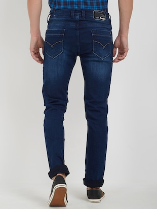 blue cotton washed jeans - 15171617 - Standard Image - 3