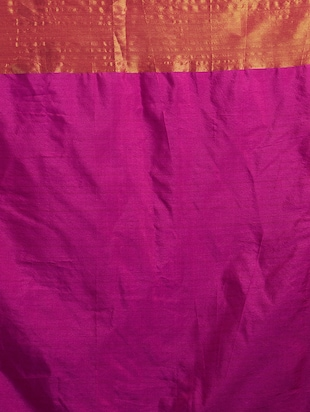 magenta art silk bordered saree with blouse - 15173435 - Standard Image - 3