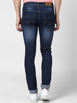 blue denim washed jeans - 15175247 - Standard Image - 3