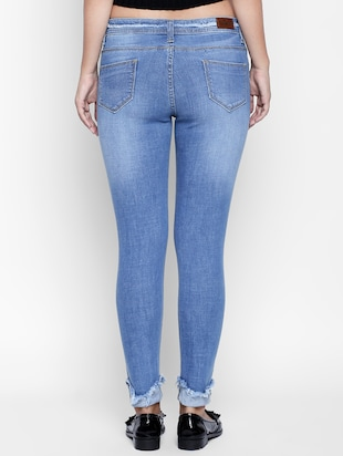 blue denim distressed jeans - 15175423 - Standard Image - 3
