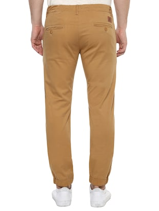brown cotton joggers - 15175556 - Standard Image - 3