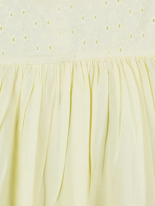 yellow cotton frock - 15176342 - Standard Image - 3