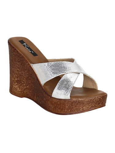 cdd0bce6a62 Buy silver heels with platforms for women in India   Limeroad