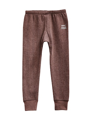brown cotton blend thermal set - 15176741 - Standard Image - 3