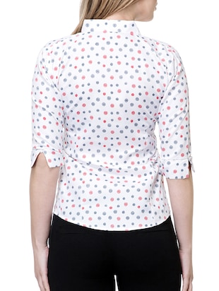 white printed cotton shirt - 15177107 - Standard Image - 3