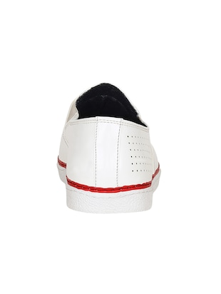 white leatherette casual slipon - 15177335 - Standard Image - 3