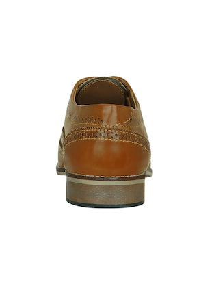 tan leatherette lace-up brouge - 15177348 - Standard Image - 3