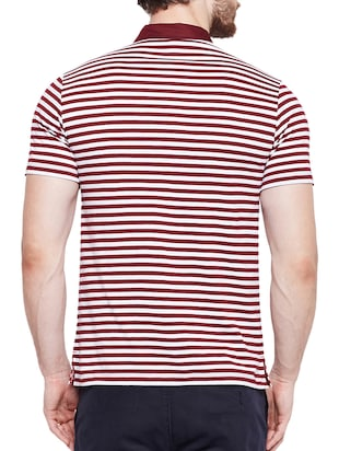 maroon cotton pocket t-shirt - 15178449 - Standard Image - 3