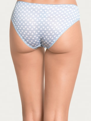 blue printed hipster panty - 15180770 - Standard Image - 3