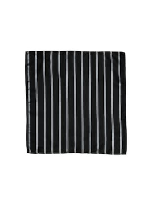 blackgrey polyester pocketsquare - 15183726 - Standard Image - 3