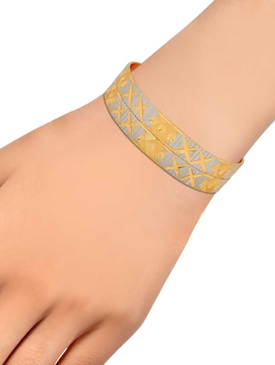 gold brass bangle - 15185831 - Standard Image - 3