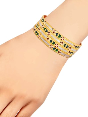 multi brass bangle - 15185834 - Standard Image - 3