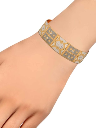 gold brass bangle - 15185843 - Standard Image - 3