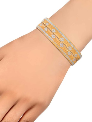 gold brass bangle - 15185924 - Standard Image - 3