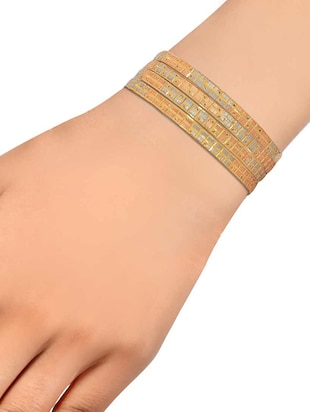 orange brass bangle - 15185933 - Standard Image - 3