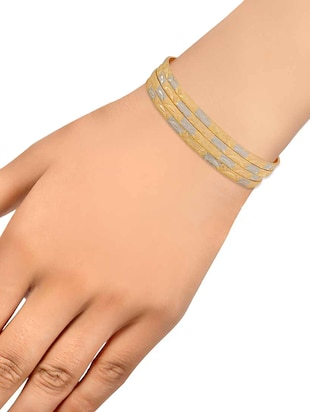 gold brass bangle - 15185939 - Standard Image - 3