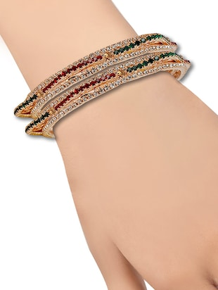red metal bangle - 15186012 - Standard Image - 3