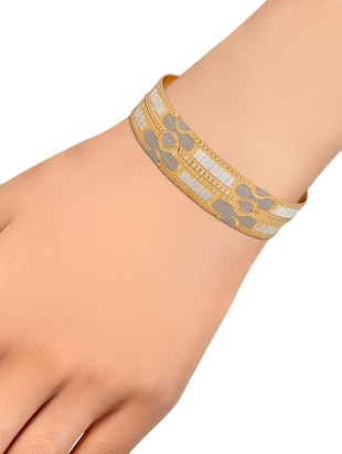 gold brass bangle - 15186347 - Standard Image - 3