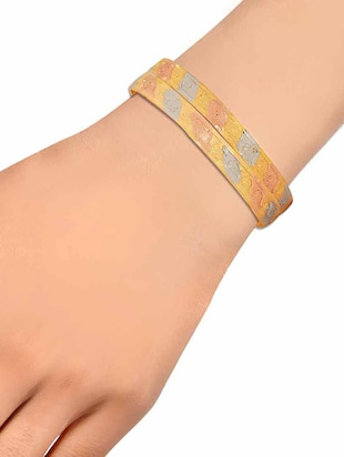 multi brass bangle - 15186371 - Standard Image - 3
