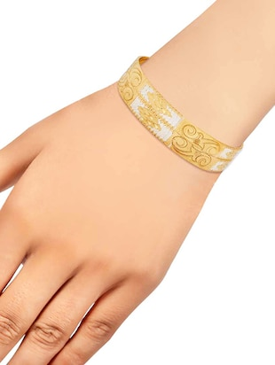 gold brass bangle - 15186383 - Standard Image - 3
