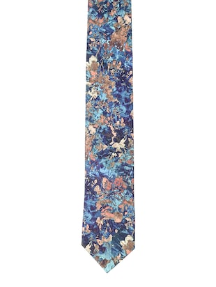multi colored micro-fibre tie - 15190399 - Standard Image - 3