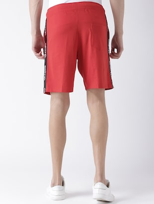 red cotton shorts - 15211475 - Standard Image - 3