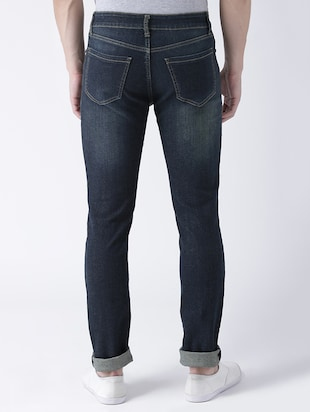 blue denim patched jeans - 15293435 - Standard Image - 3