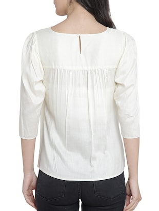 Asymmetric layered top - 15301139 - Standard Image - 3