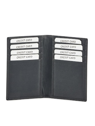 black leather card holder - 15315752 - Standard Image - 3