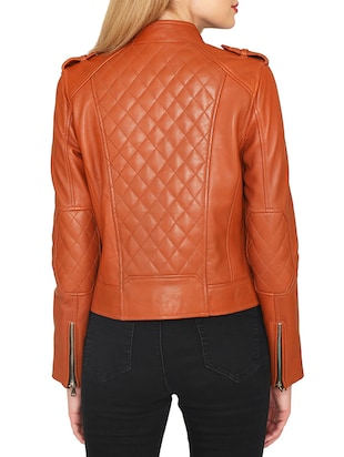 brown leatherette jacket - 15318014 - Standard Image - 3