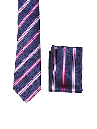 multi colored micro fiber tie with pocket square and belt - 15326425 - Standard Image - 3