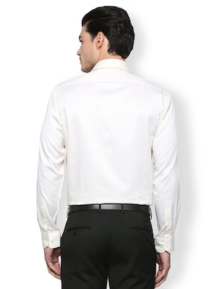 white cotton formal shirt - 15327502 - Standard Image - 3