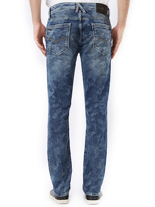 blue cotton washed jeans - 15328581 - Standard Image - 3