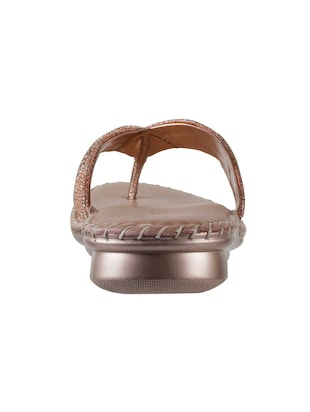 brown leather toe separator sandals - 15339447 - Standard Image - 3