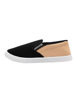 black Canvas casual slip on - 15340087 - Standard Image - 3