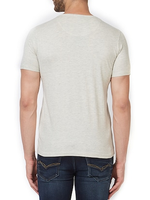 grey cotton front print t-shirt - 15340183 - Standard Image - 3