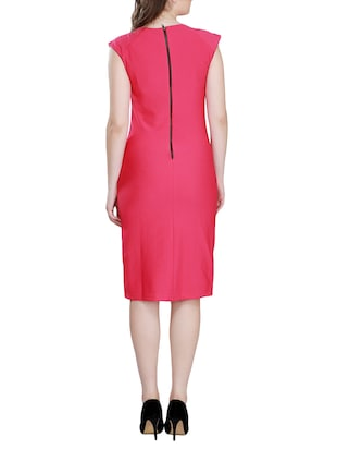 Solid sheath dress - 15341889 - Standard Image - 3