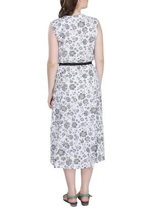 floral belted dress - 15343625 - Standard Image - 3