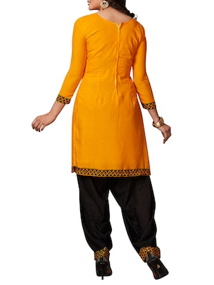 multi colored unstitched combo suit - 15344625 - Standard Image - 3