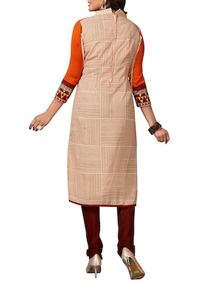 multi colored unstitched combo suit - 15344629 - Standard Image - 3