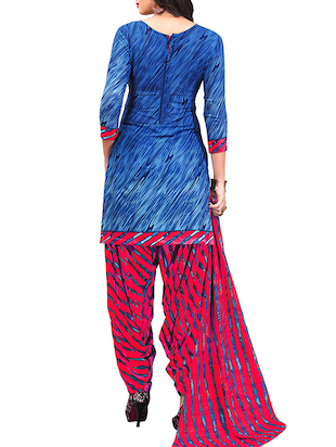 multi colored unstitched combo suit - 15344643 - Standard Image - 3