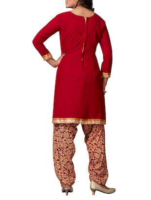 multi colored unstitched combo suit - 15344679 - Standard Image - 3