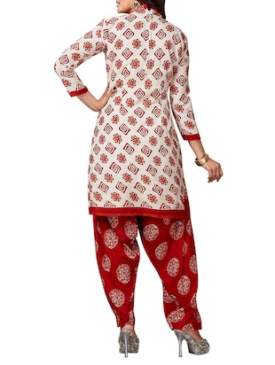 multi colored unstitched combo suit - 15344713 - Standard Image - 3