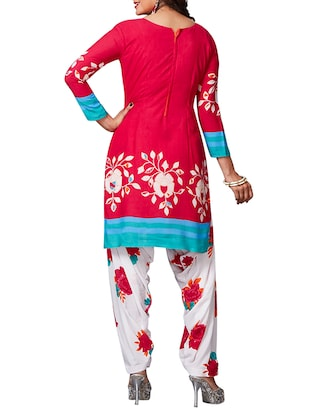 multi colored unstitched combo suit - 15344718 - Standard Image - 3
