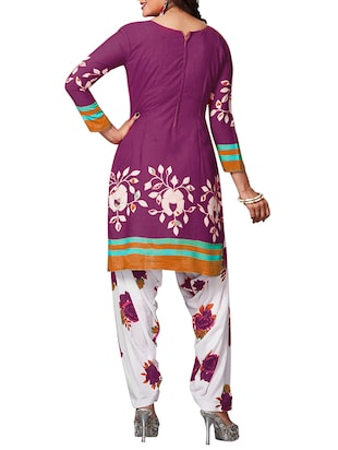 multi colored unstitched combo suit - 15344746 - Standard Image - 3