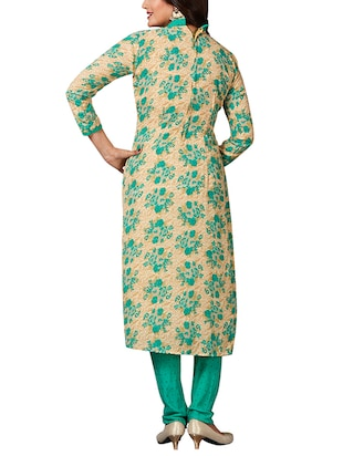 multi colored unstitched combo suit - 15344751 - Standard Image - 3