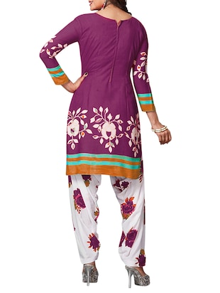 multi colored unstitched combo suit - 15344797 - Standard Image - 3